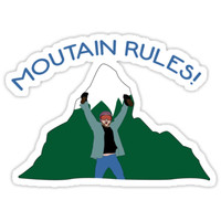 'It's Always Sunny- Mountain Rules ' Sticker by PMaker Designs