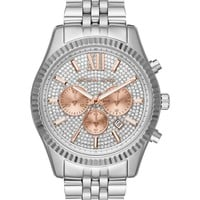 Michael Kors MK8515 Crystal Pave Dial Stainless Steel Chronograph Men's Watch