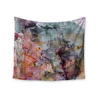 "Iris Lehnhardt ""Floating Colors"" Teal Brown Wall Tapestry"