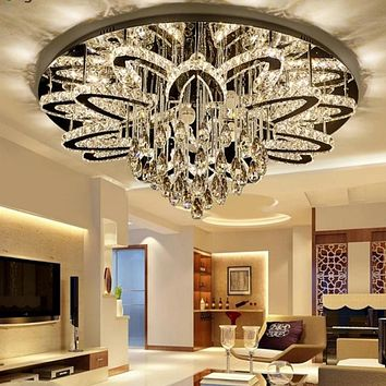 Luxury Led Remote Control Crystal Ceiling Chandelier