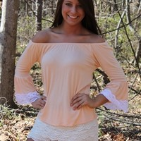 Creamsicle Lace Top