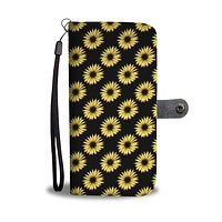 Yellow Sunflower Leather Look Wallet Phone Case