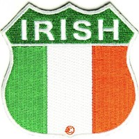 "Embroidered Iron On Patch - Irish Shield Flag 2.75"" x 2.75"" Patch"