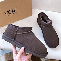 UGG Hot Sale Couple Models Simple Low-cut Lazy Boots Shoes-2