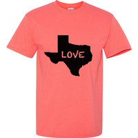 Custom Love For Texas Tshirt Mens and Womens, Keep Love or Add Your Own Home Town Tee's Dallas, Austin, San Antonio, Houston Great Gift 2286