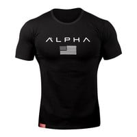 2017 New Brand clothing Gyms Tight t-shirt mens fitness t-shirt homme Gyms t shirt men fitness 100% Cotton crossfit Summer top