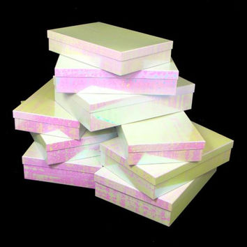 18 Nested Set Up Gift Boxes - Includes 6 Small, 6 Medium And 6 Large Boxes