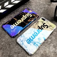 Supreme New fashion letter texture print protective cover phone case