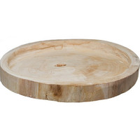 Raw Unfinished Natural Wooden Round Tray, Wood Slice Cake Stand, Table Riser, Table Centrepiece for Rustic Vintage Wedding, Garden Tea Party