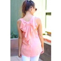 Adorable Bow Back Tops-6 colors