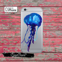 Jellyfish Blue Watercolor Tumblr Cute Water Clear Case iPhone 6 iPhone 6 Plus iPhone 6s iPhone 6s Plus iPhone 5/5s iPhone 5c iPhone 7 Plus