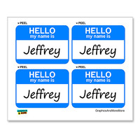 Jeffrey Hello My Name Is - Sheet of 4 Stickers