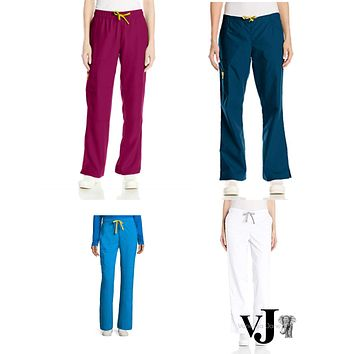 WonderWink Womens Four Stretch Cargo Scrub Pant, Various Sizes & Colors