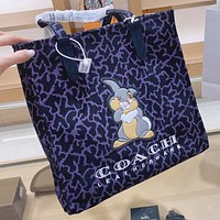 COACH & Disney  New fashion pattern rabbit print leather handbag shoulder bag