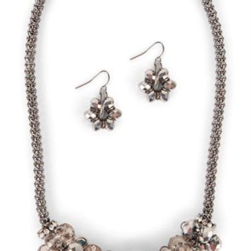 Cluster Beads and Stones Jewelry Set