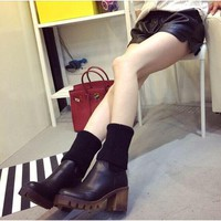 Hot Deal On Sale Winter Shoes High Heel Dr. Martens Boots [11791900047]