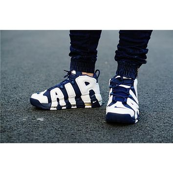 Nike Air More Uptempo Navy Blue White