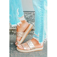 Sunkissed Sandals: Gold