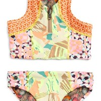 Maaji 'Eiffel Muse' Two-Piece Reversible Swimsuit (Toddler Girls & Little Girls) | Nordstrom