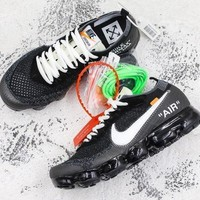 Off White X Nike Air Vapormax Black White Running Shoes