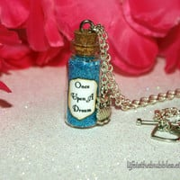 Sleeping Beauty Once Upon a Dream Magical Necklace with an Owl Charm, Princess Aurora, Disney Inspired, by Life is the Bubbles
