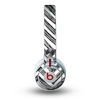 The Sketch Black Chevron Skin for the Beats by Dre Mixr Headphones