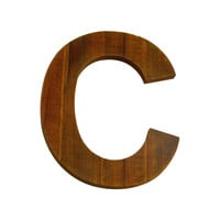 Wooden Letter C Wall Decor