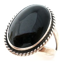 George Nakai Black Onyx 925 Ring Size 7