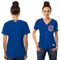 Majestic Chicago Cubs Women's Royal Alternate Cool Base Jersey