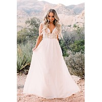 Once Upon A Time Embroidered Maxi (Ivory)
