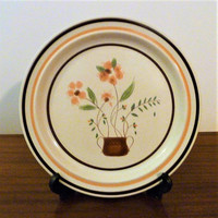 Vintage 1980s Countryside Stoneware Collection Dinner Plate / Retro Japanese Plate / Oven to Plate / Dishwasher Safew / Platter