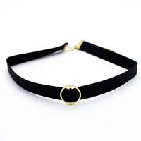 O ring choker necklace