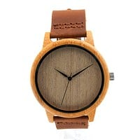 Bamboo/Leather Watch - Light
