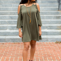 Close To Home Dress - Olive