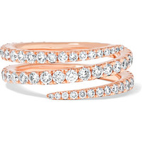 Anita Ko - Coil 18-karat rose gold diamond ring