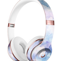 Light Blue 3 Absorbed Watercolor Texture Full-Body Skin Kit for the Beats by Dre Solo 3 Wireless Headphones