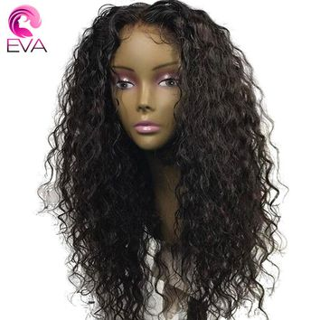 250% Density 360 Lace Frontal Wig Pre Plucked With Baby Hair Eva Hair Brazilian Remy Curly Lace Front Human Hair Wigs For Women