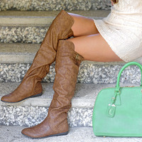 RESTOCK: High In The Sky Boots: Brown | Hope's