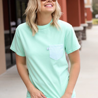 High Tide Pocket Tee: Charlotte