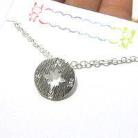 Compass Dainty Necklace Birthday Gift For Best Friend PRINTB Compass Necklace Friendship Best Friend Birthday Gift Compass Jewelry Gift