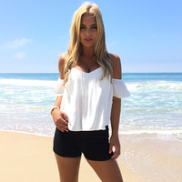 Sienna Off Shoulder Blouse In White