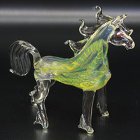 Handmade Tobacco Glass Smoking Pipe - Animal Collection - Horse