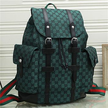 GG men's and women's double G large capacity backpack shoulder bag