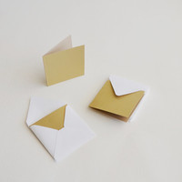 sweet little square note cards (10 sets) you choose the envelopes