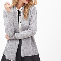 LOVE 21 Heathered Open-Front Cardigan