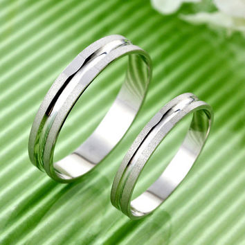 Gullei Trustmart : Japanese pair rings Frosted sterling silver [GTMCR0030] - $23.00-Couple Gifts, Cool USB Drives, Stylish iPad/iPod/iPhone Cases & Home Decor Ideas
