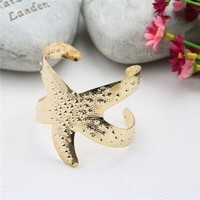 New Arrival Shiny Jewelry Stylish Strong Character Gold Octopus Ring Bangle [8171741831]