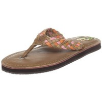 Sperry Top-Sider Women`s Sea Ray Flip Flop Sandal,Brown,5 M US