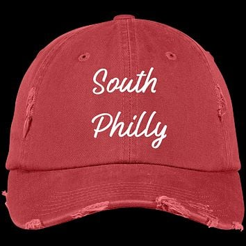 Generation T Brand Embroidered South Philly Distressed Dad Cap
