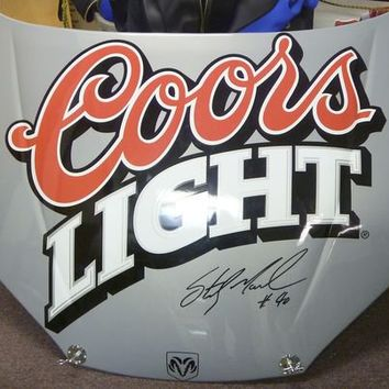 SIGNED STERLING MARLIN COORS LIGHT #40 CAR HOOD NASCAR RACING AUTOGRAPHED